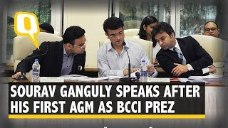 BCCI President Sourav Ganguly Speaks After the Annual General Meeting | The Quint