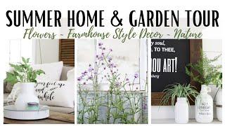 Summer Home Tour 2020 ~ Farmhouse Style Decor ~ Cottage Gardens ~ Home And Garden Tour ~  Home Tour