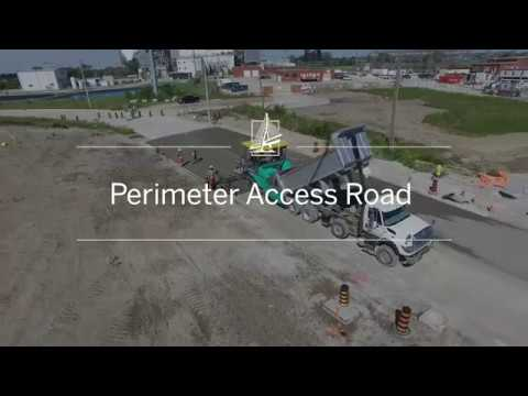 See the Perimeter Access Road being built