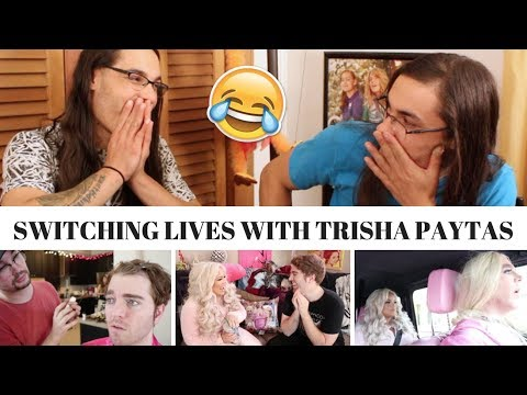 SWITCHING LIVES WITH TRISH PAYTAS I OUR REACTION! // TWIN WORLD