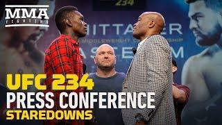 UFC 234 Press Conference Staredowns   MMA Fighting