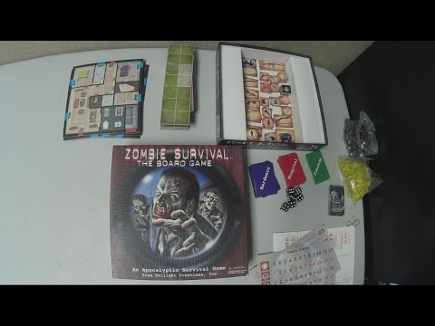 Zombie Survival: The Board Game - How to Play & Solo Run Through