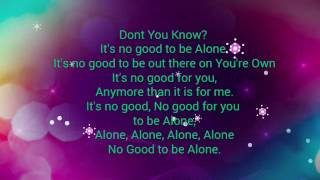 01 It's No Good To Be Alone - Brandon Heath
