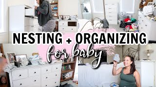 PREPARING FOR BABY ... ORGANIZING ALL THE BABY CLOTHES! 👶🏼 GETTING OUR ROOM READY FOR A NEWBORN