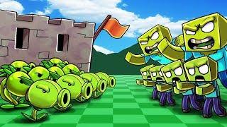 *CUSTOM* PLANTS VS ZOMBIES IN MINECRAFT! (NEW PVZ Minecraft Mod)