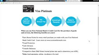 FNB Visa Credit Card