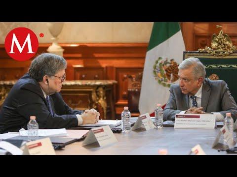 """Amlo se reune con fiscal de EU: """"Buena reunión con William Barr"""""""