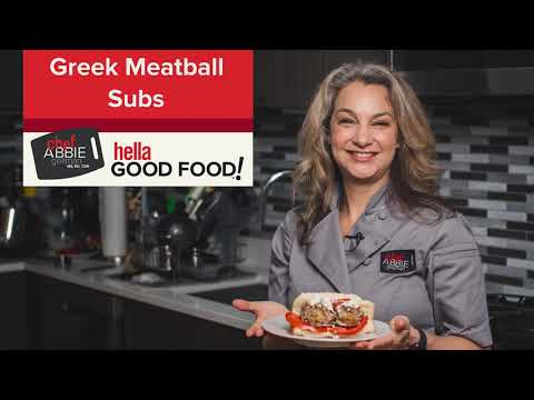 Greek Meatball Subs