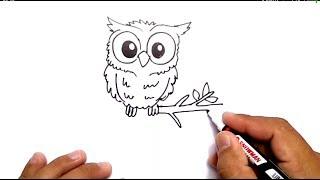 Cara Menggambar Burung Hantu Di Pohon ฟรวดโอออนไลน ดทว
