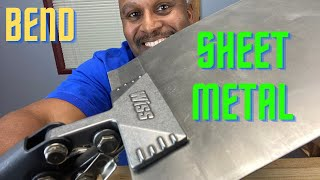HOW TO BEND SHEET METAL WITHOUT A BRAKE
