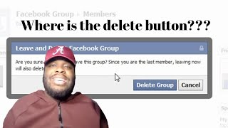 HOW TO DELETE YOUR FACEBOOK GROUP   TUTORIAL