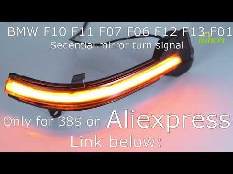 Dynamic Turn Signal LED Mirror Indicator Blinker BMW 5 6 7 Series F10 F11 F07 F06 F12 F13 F01