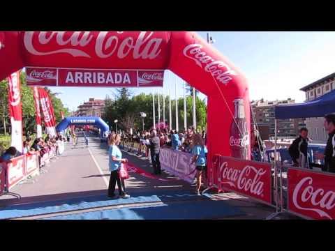 Llegada ganador masculino 5km Ciutat de Berga