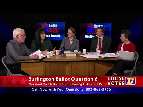 Town Meeting Day Burlington Ballot Forum: The F-35 Question