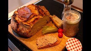 Zwiebelbrot mit 3 Sorten Mehl ohne kneten im Bräter gebacken !