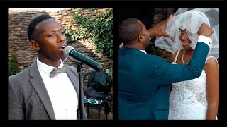 "This Bride's Dream Came True When Brian Nhira Sang ""Fall For You"" By Leela James At Her Wedding"