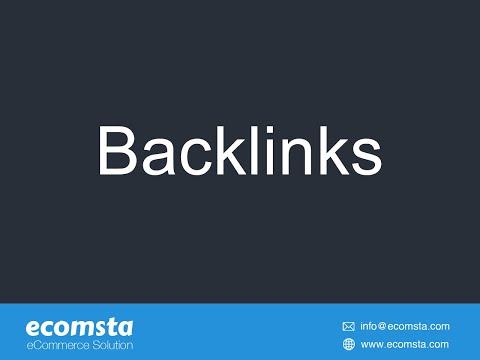 Backlinks - eCommerce Script
