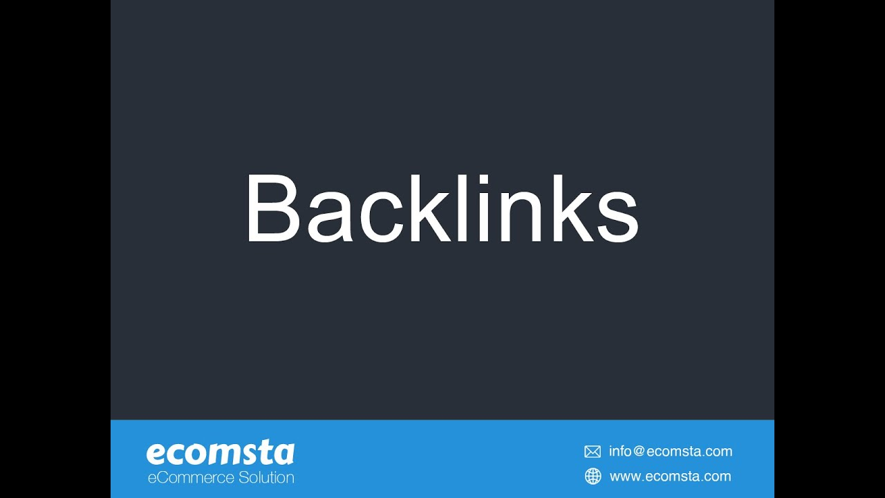 How to manage backlinks in eComsta?