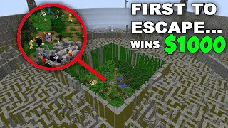 I Trapped my Subscribers in the Hardest Minecraft Map... first to escape wins $1000