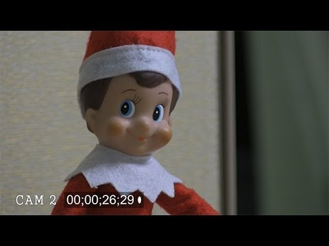 Security cameras catch Elf on a Shelf moving in office