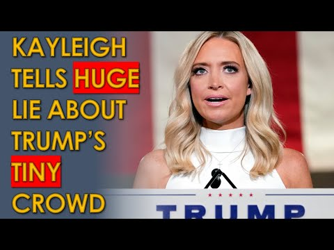 "Kayleigh McEnany MASSIVELY Exaggerates crowd size of Trump's pathetic ""Million MAGA March"""