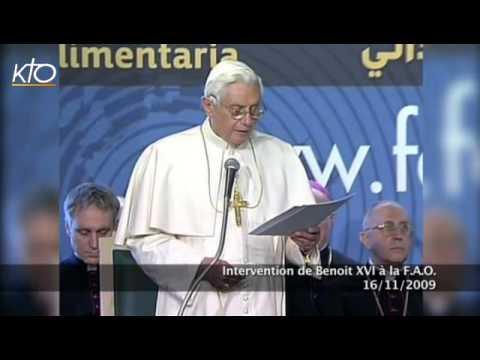 Intervention de Benoît XVI à la FAO
