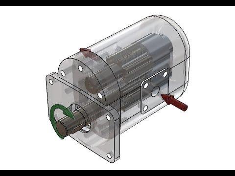 Шестеренный гидромотор - устройство, работа, достоинства и недостатки