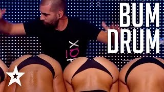 BUM DRUM SURPRISE! Cheeky Surprise Audition On France's Got Talent | Got Talent Global