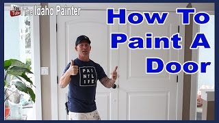 How to paint a wood door