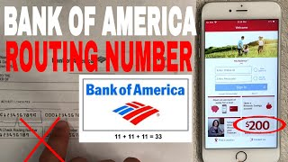 ✅  Bank Of America Routing Number - Where To Find it? 🔴