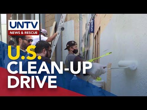 [UNTV]  California residents, nagclean-up drive matapos ang kilos-protesta at looting incident