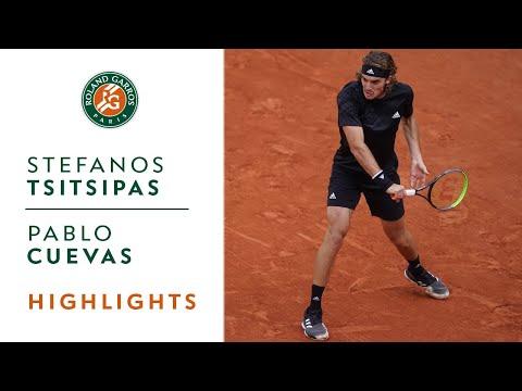 Stefanos Tsitsipas Vs Pablo Cuevas Round 2 Highl Sportstube