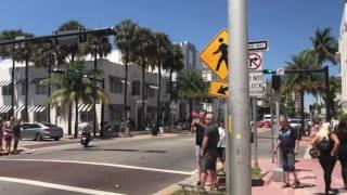 Пешком по Майами Бич парни парами Архитектура в Америке Арт Деко 04.17 Collins Avenue