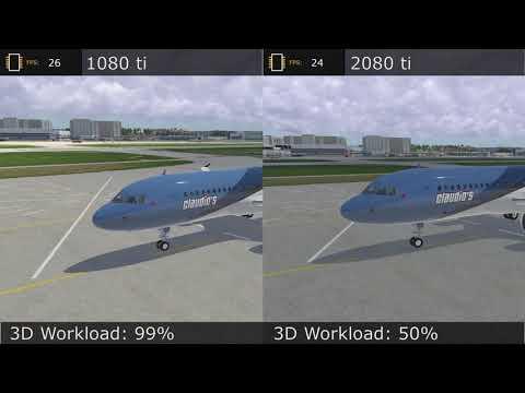 X Plane 11 - Max Settings! (4 8Ghz + GTX 1080ti) - игровое видео