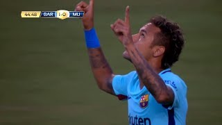 Neymar Jr Destroying Manchester United - 26/07/2017 (Barcelona vs Manchester United 1-0)