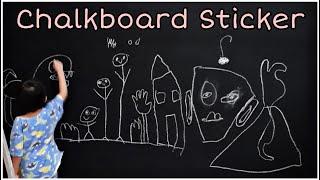 Peel And Stick L Vinyl Chalkboard Wall Sticker L PERFECT FOR HOMESCHOOLING L Easy DIY