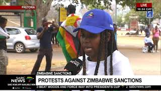 Protest Against Sanctions On Zimbabwe | Sipho Stuurman Reports