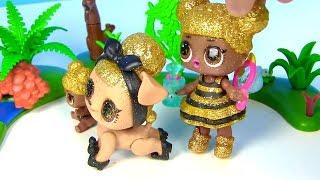 Куклы Лол Мультик! Семейка Квин Би знакомится с Барби Пчеловодом! Суперсестренки Лол Lol Surprise
