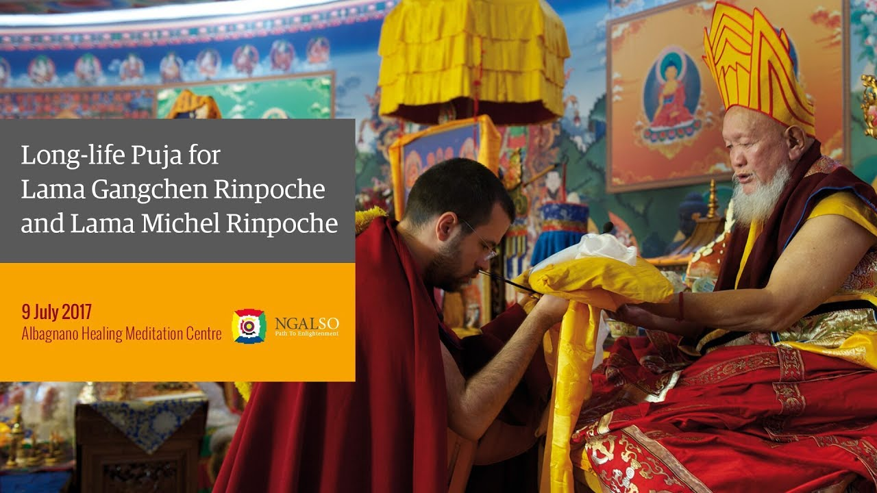 Long Life Puja for Lama Gangchen Rinpoche and Lama Michel Rinpoche