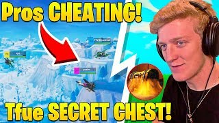 Pros Caught TEAMING in Winter Royale! Tfue TROLLED by SECRET CHEST! - Fortnite FUNNY Moments