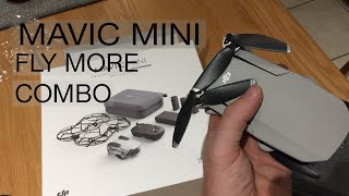 DJI Mavic Mini Fly More Combo - what's in the box (unboxing) 2020