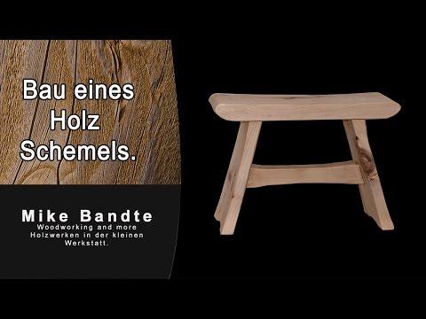Holz Schemel selber bauen. Der Hocker.  DIY step stool