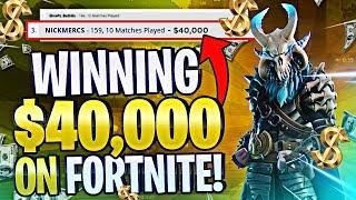 Winning $40,000 on FORTNITE! #SummerSkirmish (Fortnite Battle Royale)