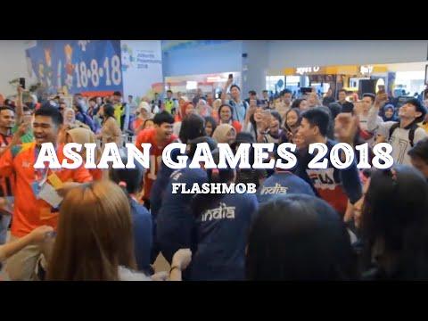 VIRAL UYYY! [FLASHMOB ASIAN GAMES 2018] 'Meraih Bintang' Via Vallen - Bandara SMB II PALEMBANG