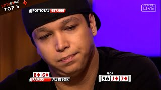 Top 5 ACTION Flops! | Poker Legends
