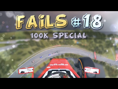 Racing Games FAILS Compilation #18 (100,000 SUBSCRIBERS SPECIAL)