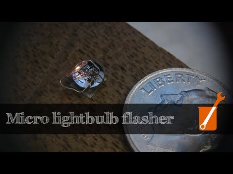 World's smallest lightbulb flasher?  Flashing Light Prize 2017