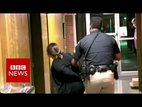 How this US teacher ended up in handcuffs – BBC News
