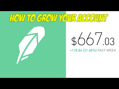 How To Grow Your Robinhood App Brokerage Account | +20% A Week