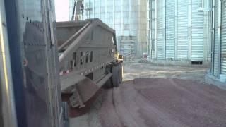 bellydump trailer dumping